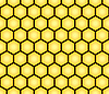 Vector clipart: seamless pattern of honeycomb form