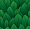 Vector clipart: Abstract background of green leaves