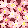 Vector clipart: cherry-flowers background