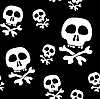 Vector clipart: background with skulls