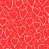 Vector clipart: Valentine's day background with hearts