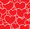 Vector clipart: Abstract red background with hearts