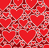 Vector clipart: red background with hearts
