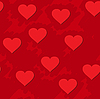 Vector clipart: red grunge background with hearts