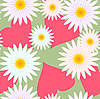 Vector clipart: Background with hearts and flowers