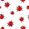 Vector clipart: red bugs background.