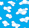 Vector clipart: clouds background. Seamless.