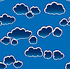 Vector clipart: dark clouds background. Seamless.
