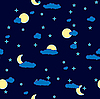 Vector clipart: night clouds background