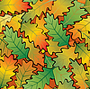 Vector clipart: Oak leaves abstract background. Seamless.