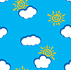 Vector clipart: day clouds background. Seamless.