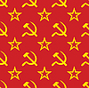 Vector clipart: symbols of USSR background