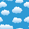 Vector clipart: clouds background.