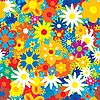 Vector clipart: Seamless flowers background