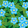 Vector clipart: forget-me-nots flowers background.