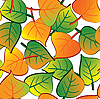 Vector clipart: Leaf seamless background.