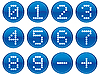 Vector clipart: Matrix digits icons set.