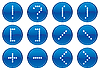 Vector clipart: Matrix symbols icon set.