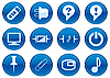 Vector clipart: Icons for gadget