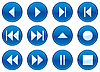 Vector clipart: Multimedia navigation buttons set.