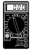 Vector clipart: Digital multimeter.