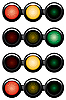 3-sections traffic-light | Stock Vector Graphics