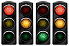 Vector clipart: Traffic light for bikes.