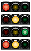 Horizontal traffic-lights | Stock Vector Graphics