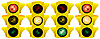 Vector clipart: Yellow traffic light.