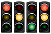 Vector clipart: Traffic light. Variants.