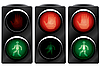 Vector clipart: Traffic light for pedestrians