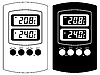 Vector clipart: Electronic thermometer.