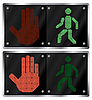 Vector clipart: Traffic light for people.