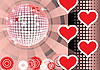 Vector clipart: To give pink lovers party.