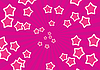 Vector clipart: pink rays and stars