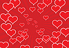Vector clipart: red heart background