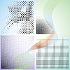 Vector clipart: abstract gradient backgrounds with dots