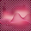 Vector clipart: Abstract pink background with dots.