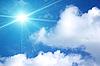 ID 3032641   Białe chmury na niebieskim niebie   Foto stockowe wysokiej rozdzielczości   KLIPARTO