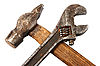 Hammer and spanner | Stock Foto