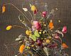 Фото 300 DPI: Букет цветов с бабочкой