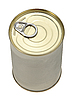 Single metal can. Top view. | Stock Foto