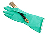 Photo 300 DPI: green rubber glove and brush