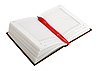 Photo 300 DPI: Empty open diary and red pen