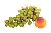 ID 3032734 | Grüne Trauben und Pfirsich | Foto mit hoher Auflösung | CLIPARTO