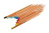 Set of multicolored wood pencils | Stock Foto