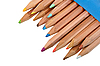 Set of multicolored wood pencils | Stock Foto