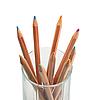Photo 300 DPI: multicolored wood pencils in glass
