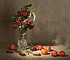 ID 3032757 | Bukiet Ashberry w wazonie i jabłka czerwone | Foto stockowe wysokiej rozdzielczości | KLIPARTO