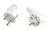 Two white ac-power connectors | Stock Foto